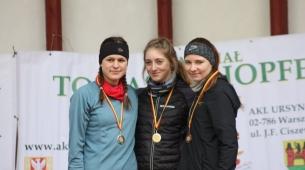 Ola Płocińska i koleżanki z podium